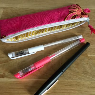 Trousse à crayons, wax rose