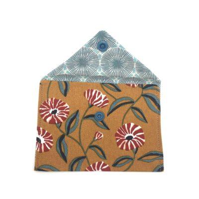 Pochette carte d'identité, Fleurs d'automne