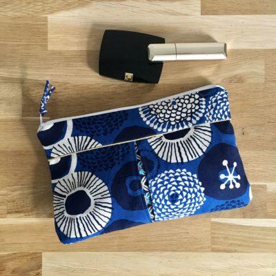 Pochette à soufflets , Hanabi – bleu