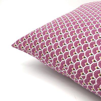 Housse de coussin 40 x 40 cm, Ecailles violettes