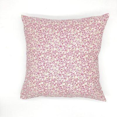 Housse de coussin 40 x 40 cm, Fleurs roses