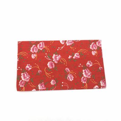 Porte chéquier, Fleurs rouges