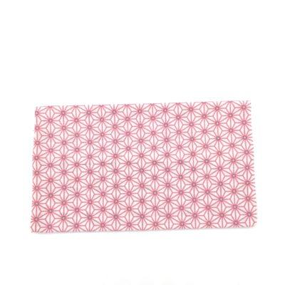Porte chéquier, Asanoha rose