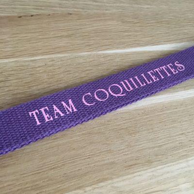 Porte clé Team coquillettes, violet