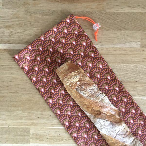 Sac à pain:baguette mosaic orange MELIFACTORY