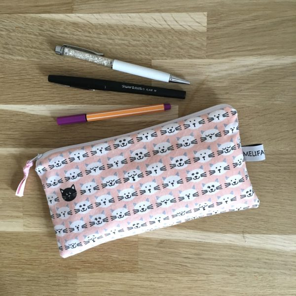 Trousse scolaire chat rose 2 MELIFACTORY