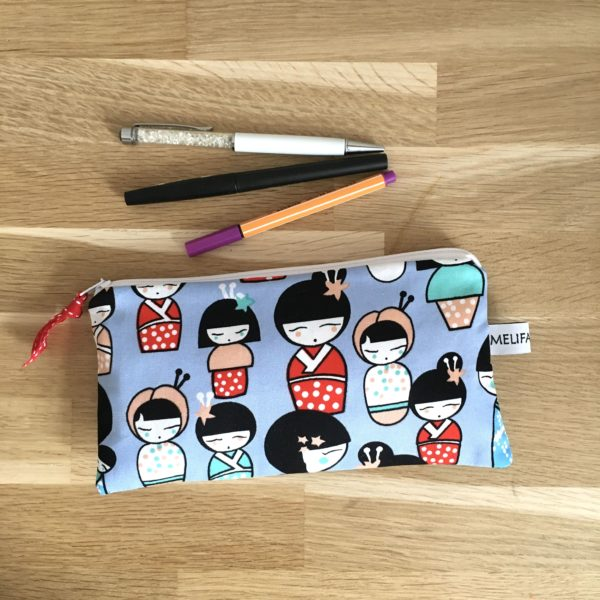 Trousse scolaire kokeshi 2 MELIFACTORY