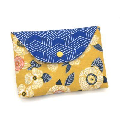 Pochette, Fleurs-jaune et bleu