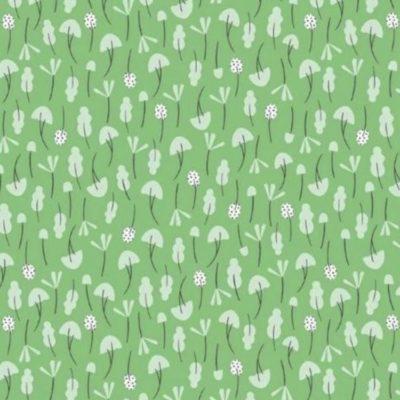 Coton Ditsies kiwi, 20 x 110 cm