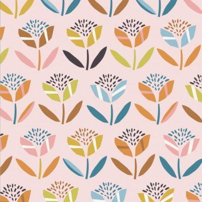 Coton fleurs, 20 x 110 cm