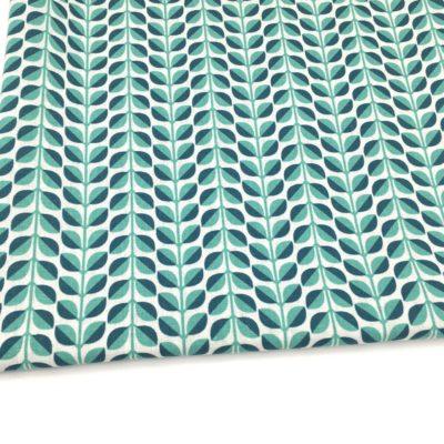 Canvas feuilles turquoises, 20 x 110 cm