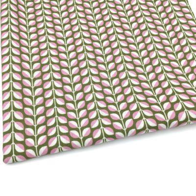 Canvas feuilles vertes, 20 x 110 cm