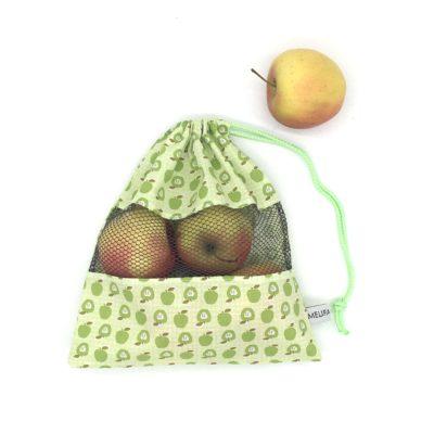 Sac à vrac, pommes vertes