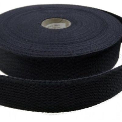 Sangle en coton 23 mm, noire