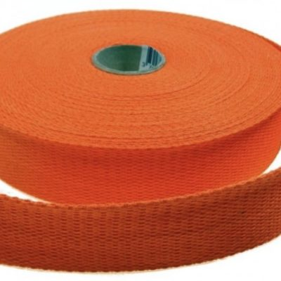Sangle en coton 23 mm, orange