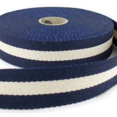 Sangle en coton 30 mm, Bleu marine