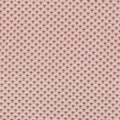 Coton éventails roses, 20 x 150 cm