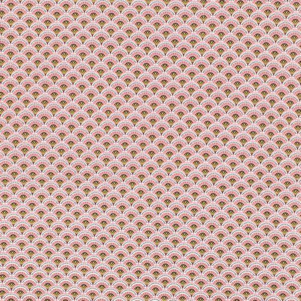 Tissu éventails roses MELIFACTORY