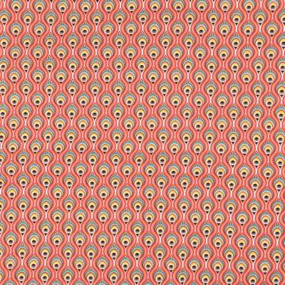 Coton plumes de paon roses, 20 x 150 cm