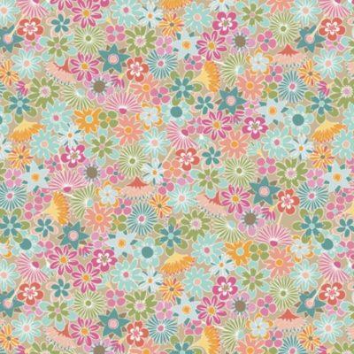 Coton fleurs vintage, 20 x 110 cm