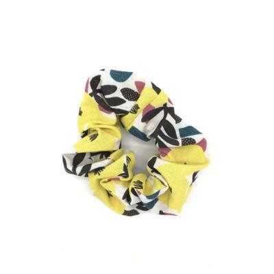 Chouchou, coton bio fleurs jaunes