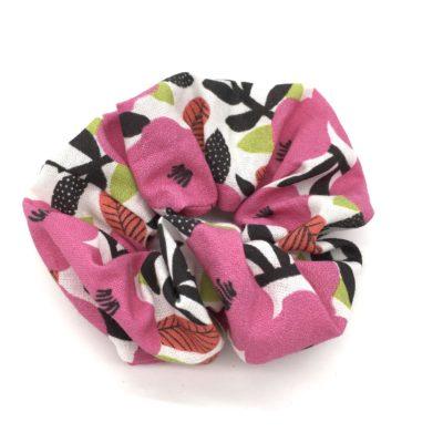 Chouchou, coton bio fleurs roses