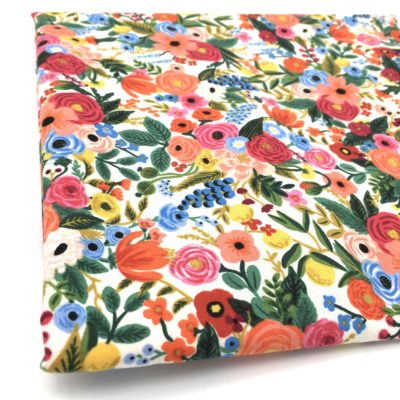 Coupon coton fleurs Rifle Paper Co, 110 x 110 cm