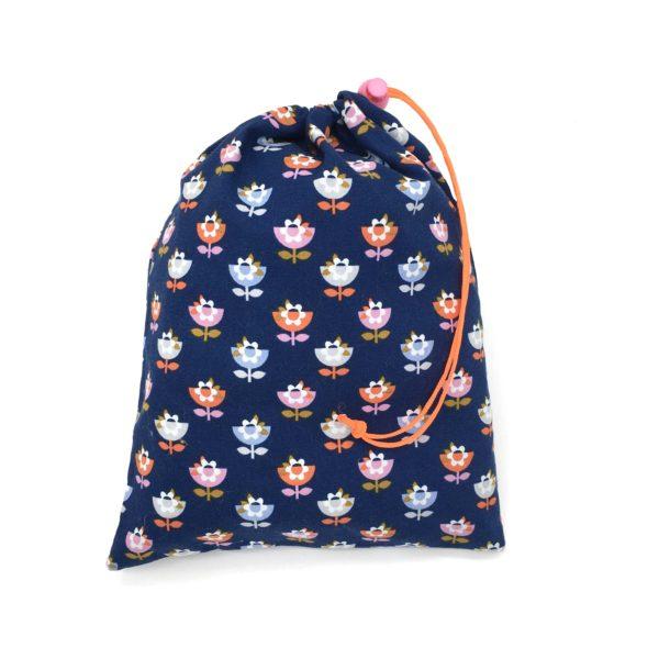 Sac de voyage, sac bébé TAILLE M fleurs MELIFACTORY