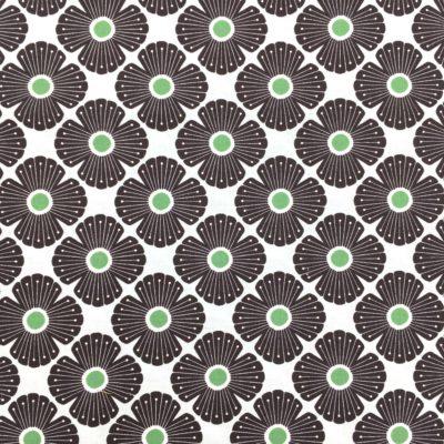 Coton blossom vert, 20 x 110 cm