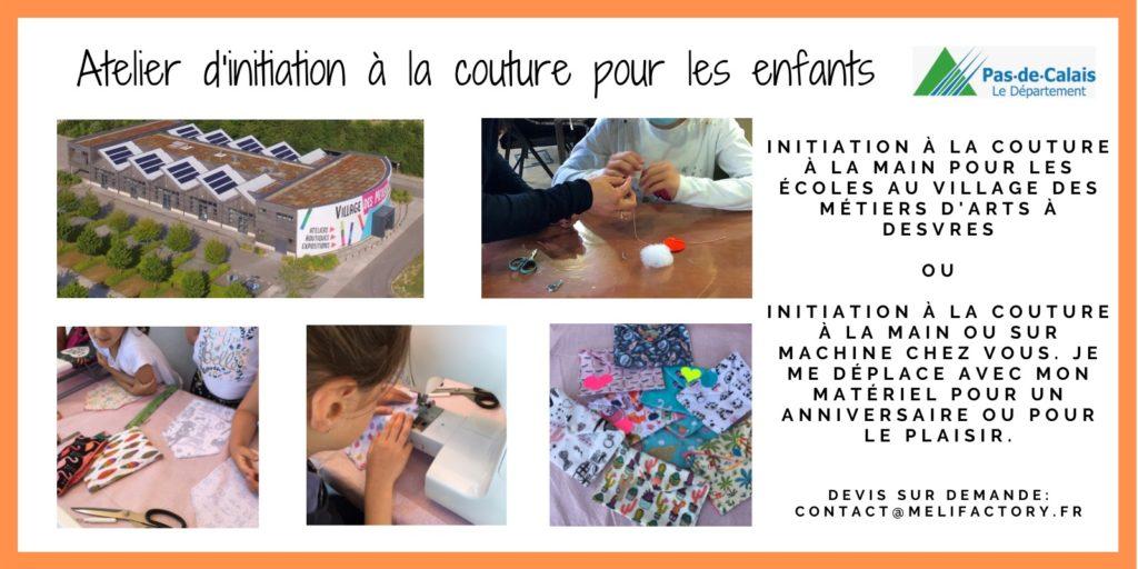 Atelier d'initiation à la couture MELIFACTORY