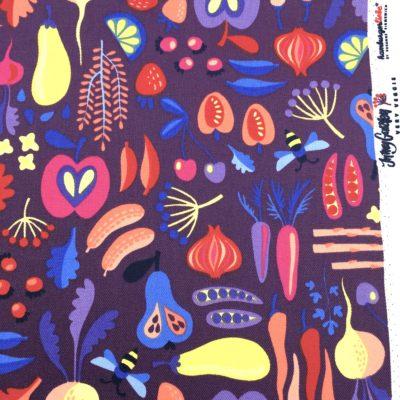 Canvas laminé very veggie violet, 20 x 140 cm