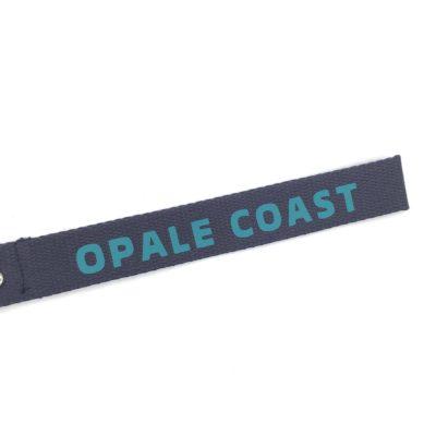 Porte clé sangle Opale Coast , bleu marine