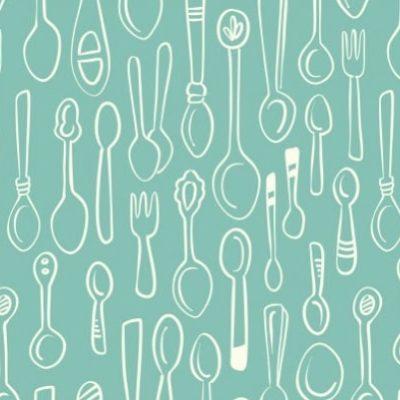 Coton bio, silver spoon menthe, 20 x 145 cm