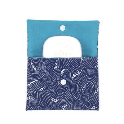 Pochette à savon, SHL, Masque, vagues bleues