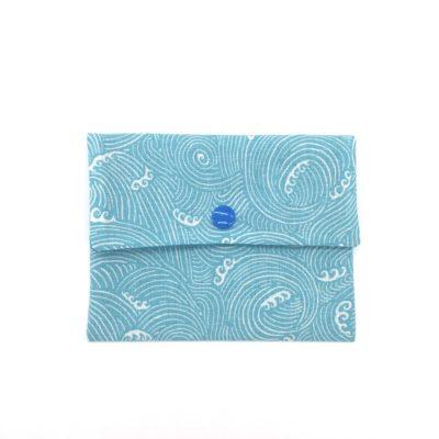 Pochette à savon, SHL, Masque, vagues turquoises