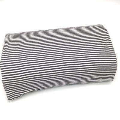 Bord cote tubulaire marinière gris, 10 cm