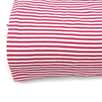 Bord cote tubulaire marinière rose, 10 cm
