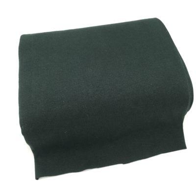 Bord cote tubulaire cotelé vert, 10 cm