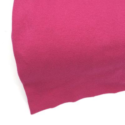 Bord cote tubulaire cotelé fuchsia, 10 cm