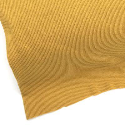 Bord cote tubulaire cotelé moutarde, 10 cm
