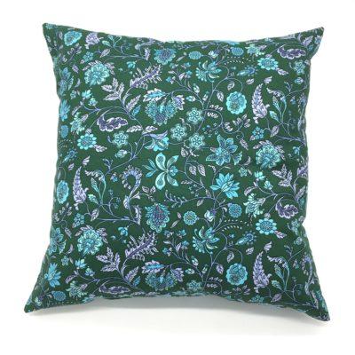 Housse de coussin 40 x 40 cm, Fleurs romantiques-vert