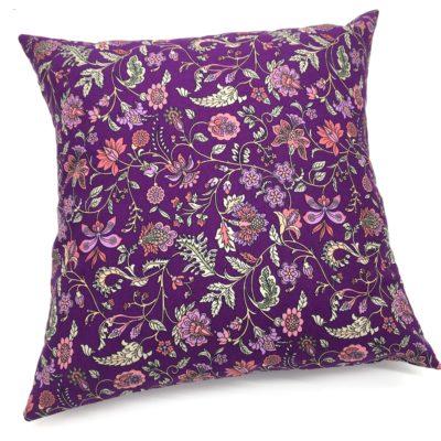 Housse de coussin 40 x 40 cm, Fleurs romantiques-violet